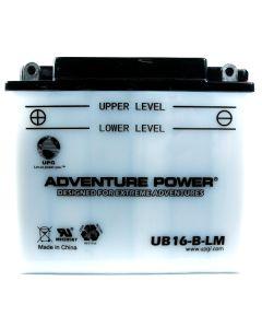 Yuasa YB16-B-CX Battery: Adventure Power UB16-B-LM