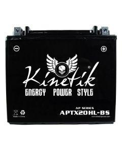 UPG's Kinetik APTX20HL-BS Replaces Yuasa YTX20HL-BS