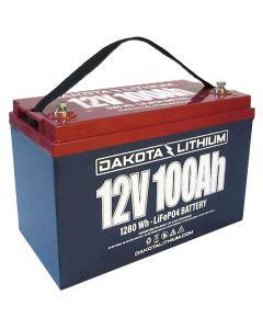 Dakota Lithium DL12v100AH LiFePO4 Deep Cycle 12V 100Ah Lithium Battery