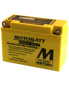 MotoBatt MBT9B4 140CCA Upgrade for YT9B-BS & GT9B-4