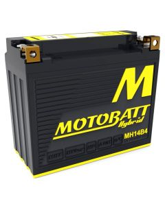 MH14B4 MotoBatt Hybrid AGM Lithium Motorcycle Battery