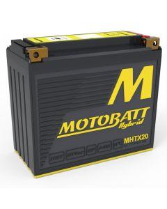 MHTX20 battery - left profile