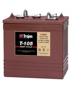 Trojan T-105 Plus 6 Volt 225Ah Deep Cycle Battery