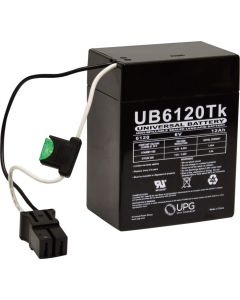 UPG UB6120 TOY 6 Volt 12Ah Battery Replaces Power Wheels 00801-0712
